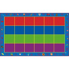<strong>KidCarpet.com</strong> ABC Rainbow Seating Kids Rug