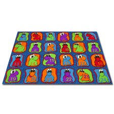 <strong>KidCarpet.com</strong> Cute Little Creatures Seating Kids Rug