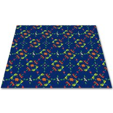 Dragonflies Play Kids Rug