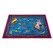 Lazy River Fish Kids Rug