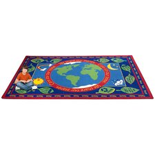 Earth Educational World Kids Rug