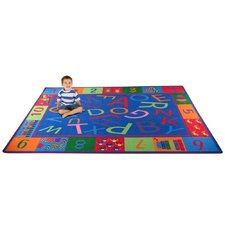 Alphabet and Numbers Teaching Toddler Kids Rug