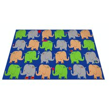 Elephant Seating Classroom Kids Rug