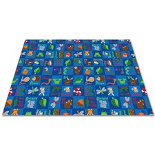 Animals In The Forest Kids Rug