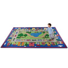 Around Town Road Kids Rug