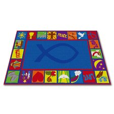 Bible Squares Christian School Kids Rug