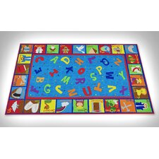 Bible Sunday School with ABCs Kids Rug