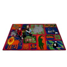 My Buddies in The Jungle Kids Rug