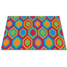 Sitting Hexagons Kids Rug