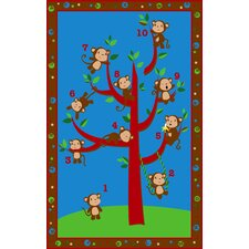 Ten Little Monkeys Kids Rug