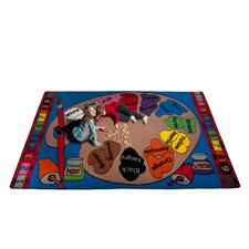 <strong>KidCarpet.com</strong> Paint Palette Spanish Circle Time Kids Rug