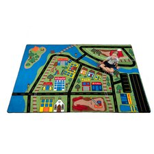 Total Transportation Play Town Kids Rug