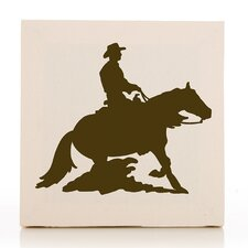 Happy Trails Cowboy Fabric Canvas Art