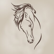 Happy Trails Stallion Vinyl Decal