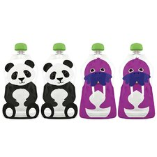 <strong>Squooshi</strong> Reusable Food Pouch (Pack of 4)
