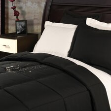 Polyester Microfiber Down Alternative Stain and Water Resistant Comforter Set