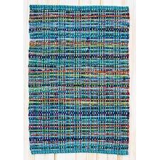 Cross Grain Multi Turquoise Rug