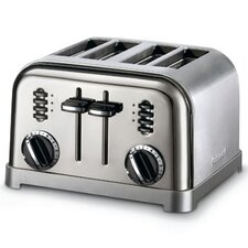 <strong>Cuisinart</strong> Black Appliances Classic 4-Slice Toaster