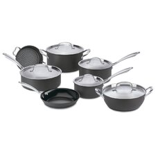 Green Gourmet Hard-Anodized Aluminum 12-Piece Cookware Set