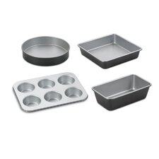 Chef's Classic Stainless Steel 4 Piece Bakeware Set