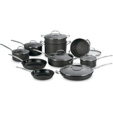 Chef's Classic Non-Stick Hard Anodized 17-Piece Cookware Set