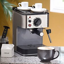 Brushed Stainless Appliances 15-Bar Espresso Maker
