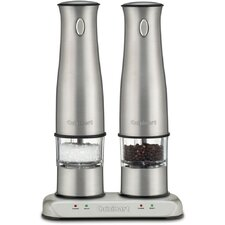 Rechargeable Salt & Pepper Mills in Stainless Steel
