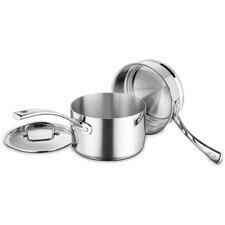 French Classic Stainless Steel 3-Piece Double-Boiler