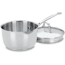 Chef's Classic Stainless Steel 2-qt. Saucepan with Lid