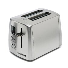 Compact 2-Slice Stainless Steel Toaster