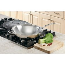 <strong>Cuisinart</strong> Chef's Classic Stainless Stir Fry Woks with Lid