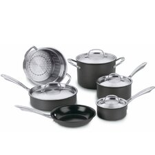 <strong>Cuisinart</strong> Green Gourmet Hard Anodized  10-Piece Cookware Set