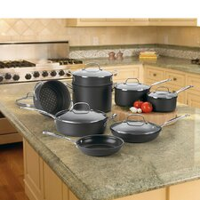 Chefs Classic Non-Stick Hard Anodized 14-Piece Cookware Set