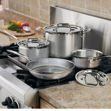 MultiClad Pro Triple-Ply Stainless Steel 7-Piece Cookware Set