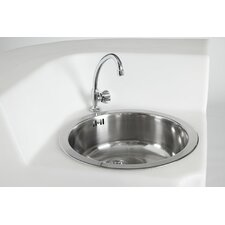 Jumbo Corner Sink with Tap and Drain