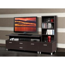 <strong>Nexera</strong> Element Entertainment Center with Wide Satellite Unit in Espresso