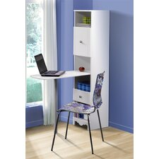 "Pixel 15"" W Bookcase Writing Desk"