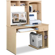 "Alegra 48"" W Student Computer Desk and Hutch"