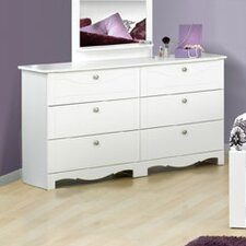 <strong>Nexera</strong> Dixie Double 6-Drawer Dresser