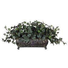 <strong>House of Silk Flowers Inc.</strong> Artificial English Ivy Ledge Desk Top Plant in Planter
