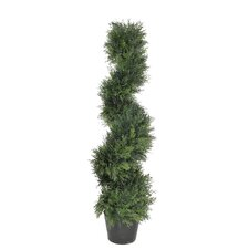 Artificial Cedar Spiral Topiary in Pot
