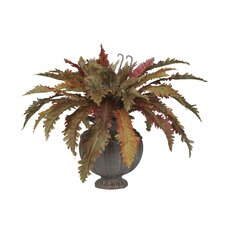 Artificial Fall Fern Desk Top Plant in Decorative Vase