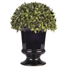 Artificial Half Ball Topiary Ceramic Urn