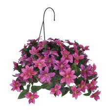 Artificial Clematis Hanging Plant in Basket