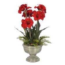 Artificial Amaryllis in Urn
