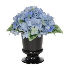 Artificial Hydrangea in Urn