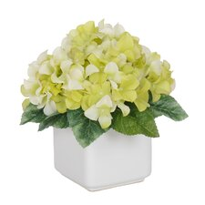 Artificial Hydrangea in Pot