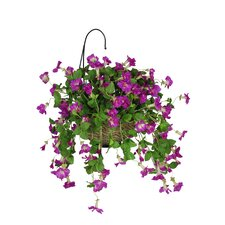 Artificial Petunia Hanging Plant in Basket
