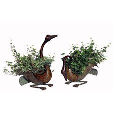 2 Piece Artificial Ivy Desk Top Plant in Planter