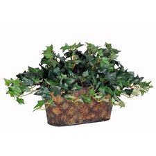 <strong>House of Silk Flowers Inc.</strong> Artificial Mini English Ivy Desk Top Plant in Planter